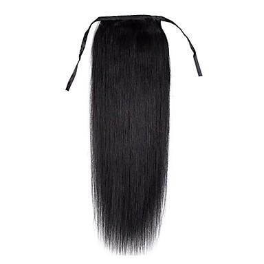 Felcsatolható Human Hair Extensions Egyenes Női Napi