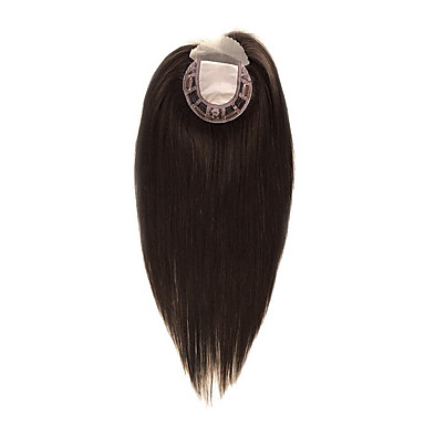 povoljno Perike i ekstenzije-Uniwigs 5x5 Zatvaranje Ravan kroj / Klasika Besplatno dio Remy kosa Žene Dnevno