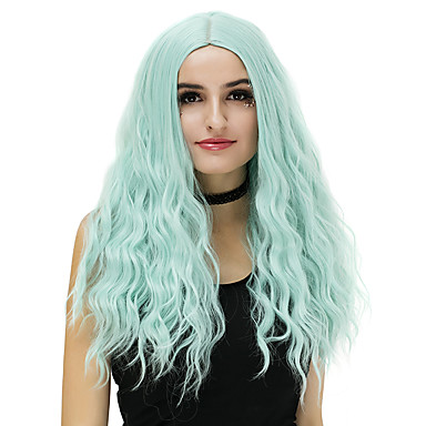 Synthetic Wig Loose Wave Blonde Synthetic Hair Blue / Blonde / Pink Wig Women's Long Capless