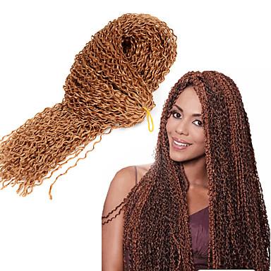 Curly Weave Afro-Frisur Geflochtene Haarzöpfe 100% kanekalon haare 1pc / pack Pre-Schleife Crochet Borten Haarzöpfe