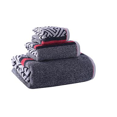Fresh Style Bath Towel Set, Striped Stripe Superior Quality 100% Cotton Towel Towel
