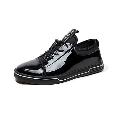 Herren Schuhe PU Frühling Herbst Komfort Sneakers Schnürsenkel Für Normal Gold Schwarz Silber Blau