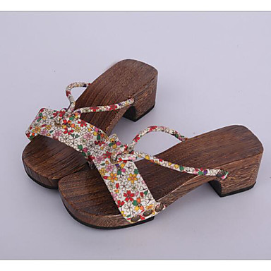 Damen Schuhe Baumwolle Stoff Frühling Herbst Cloggs & Pantoletten Cloggs & Pantoletten Für Normal Regenbogen