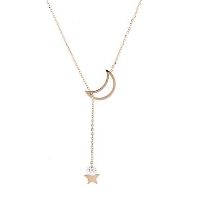 Női Luxus Zvijezda Kocka cirkónia Aranyozott / Cirkonium Nyaklánc medálok - Luxus / Bojt / Szexi Geometric Shape Arany Nyakláncok