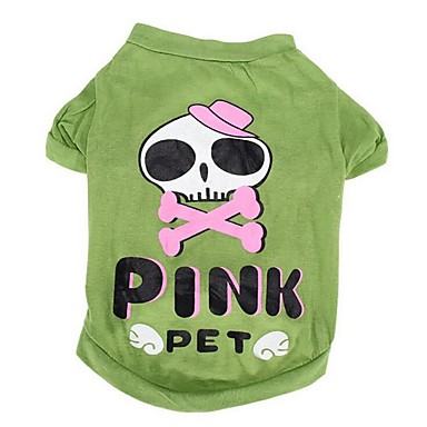 Dog Shirt / T-Shirt Dog Clothes Bone Cotton Costume For Pets Summer Men's / Women's Casual / Daily