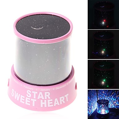 Starry Night Light LED Lighting Projector Lamp Toys ABS Romantic 1 Pieces Children's Gift