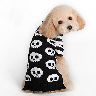 Dog Sweater Dog Clothes Skull Cotton Costume For Pets Men's / Women's Casual / Daily