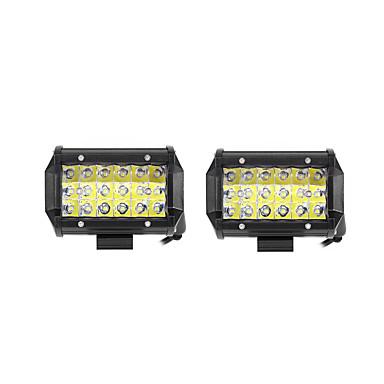 2pcs Bilar Glödlampor 54W SMD 3030 10800lm LED Arbetslampa