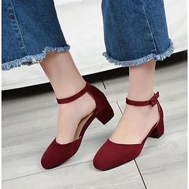 Damen Schuhe PU Sommer Komfort Sandalen Für Normal Schwarz Gelb Rot