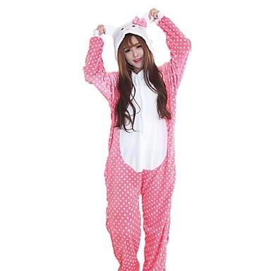 e4b1996fbf Adults  Kigurumi Pajamas Cat Onesie Pajamas Flannel Fabric Cosplay For Men  and Women Animal Sleepwear