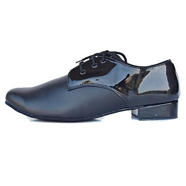 Férfi Latin cipők Bőrutánzat / Bőr Magassarkúk Otthoni Személyre szabott sarok Személyre szabható Dance Shoes Fekete