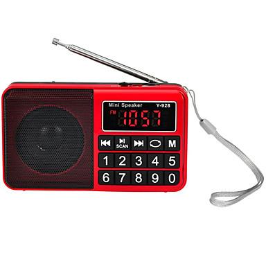 Y-928 FM / AM Portable Radio MP3 Player TF Card World Receiver Black / Red / Blue