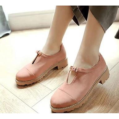 Damen Schuhe PU Frühling Komfort Loafers & Slip-Ons Für Normal Schwarz Grau Grün Rosa