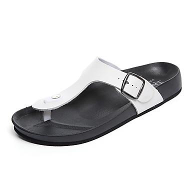 Herren Schuhe PU Sommer Neuheit Sandalen Für Normal Weiß Schwarz
