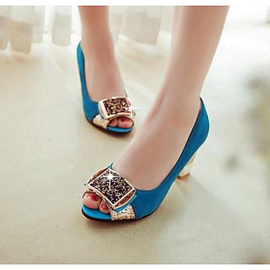 Damen Schuhe PU Sommer Komfort Sandalen Für Normal Schwarz Rot Hellblau Königsblau