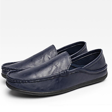 Men's Driving Shoes Canvas Spring / Fall Loafers & Slip-Ons Black / Brown / Blue