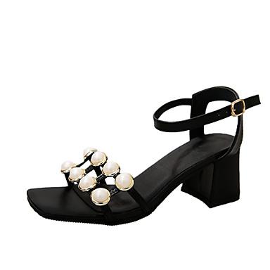 Damen Sandalen Komfort Sommer Gummi Walking Schnalle Block Ferse Schwarz Unter 2,5 cm
