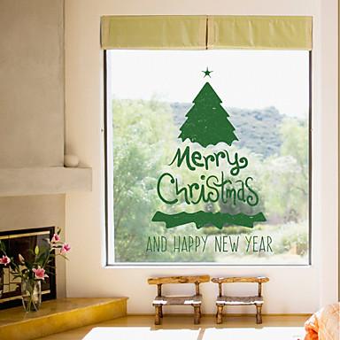 Romantik Weihnachten Feiertage Wand-Sticker Flugzeug-Wand Sticker Dekorative Wand Sticker, Kunststoff Haus Dekoration Wandtattoo Wand