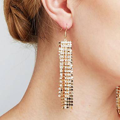 Dame Syntetisk Diamant Personalisert Luksus Sexy Mote Euro-Amerikansk Movie Smykker Erklæringssmykker Kobber Line Formet Smykker