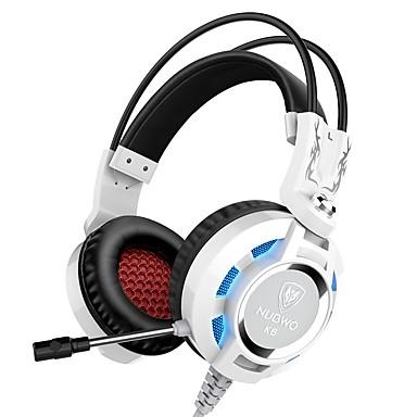 k6 عقال سماعات الرأس سماعات الألعاب الديناميكية طوي مع ميكروفون مع التحكم في مستوى الصوت سماعة الرأس
