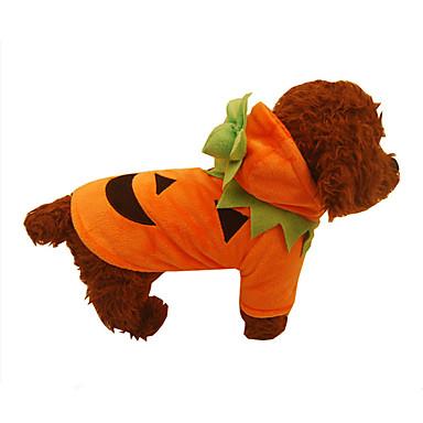 Dog Costume Dog Clothes Pumpkin Orange Cotton Costume For Pets Halloween