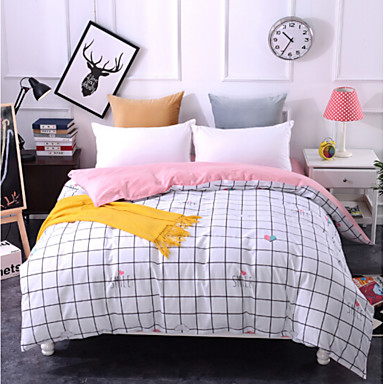 Comfortable 1pc Duvet Cover, 100% Polyester 100% Polyester Printed 230TC Plaid/Checkered