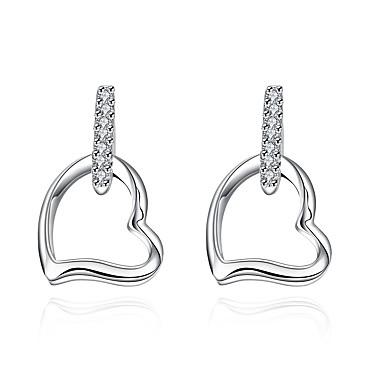 Damen Tropfen-Ohrringe - versilbert Herz nette Art Silber Für Hochzeit / Party / Alltag