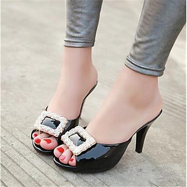 Damen Schuhe PU Sommer Komfort High Heels für Normal Schwarz Rot Rosa