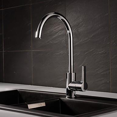 Moderne Moderner Stil Mittellage Gute Qualität Keramisches Ventil Chrom, Armatur für die Küche
