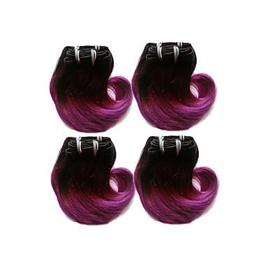 Brazilian Hair Body Wave Human Hair Ombre Hair Weaves / Hair Bulk Ombre Human Hair Weaves Human Hair Extensions