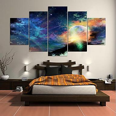 Fünf Panele Horizontal Druck Wand Dekoration For Haus Dekoration