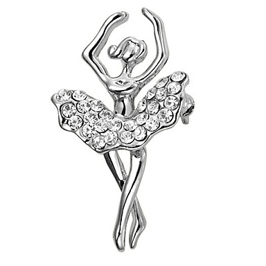 Women's AAA Cubic Zirconia Brooches - Gold Plated Bohemian Brooch Silver For Christmas / Wedding / Party
