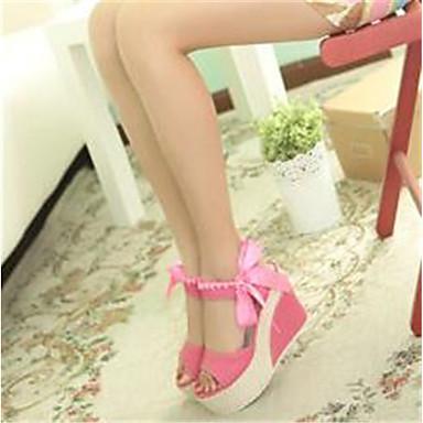 Damen Schuhe PU Frühling Sommer Komfort Sandalen für Normal Rosa