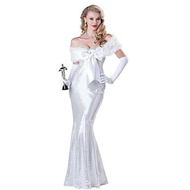 Einteilig/Kleid Prinzessin Märchen Cosplay Fest/Feiertage Halloween Kostüme Vintage Kleider Umhang Handschuhe Halloween KarnevalFrau