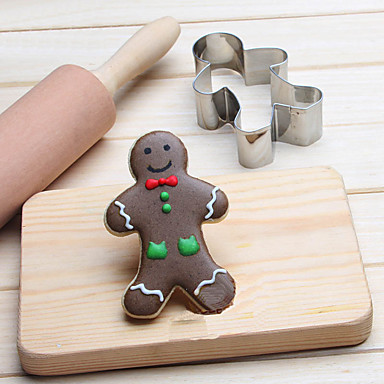 Bakeware tools Stainless Steel Kids / Normal / Baking Tool For Bread / For Cookie / For Pie 3D Cartoon / Animal Cookie Tools 1pc