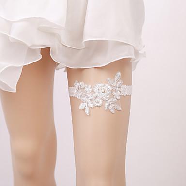 Elasztikus Lábmelegítők Party Szexi Esküvő Wedding Garter  -  Hamis gyöngy Rátétek Harisnykötők