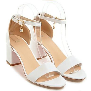 Damen Schuhe PU Frühling Sommer Komfort Sandalen Für Normal Weiß Schwarz Beige