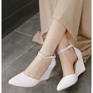 Damen Schuhe PU Frühling Komfort Stiefel Für Normal Weiß Beige Purpur