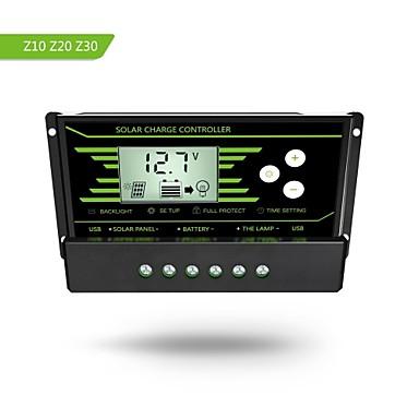 Y-solar pwm 20a szolár töltésvezérlő 12v 24v autós háttérvilágítással lcd kijelző kettős usb 5v napenergia-szabályozó töltő z20