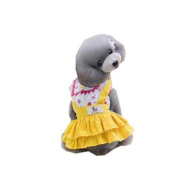 Hund Kleider Hundekleidung Punkt Gelb Blau Polyester Kostüm Für Haustiere Sommer Damen Lässig / Alltäglich