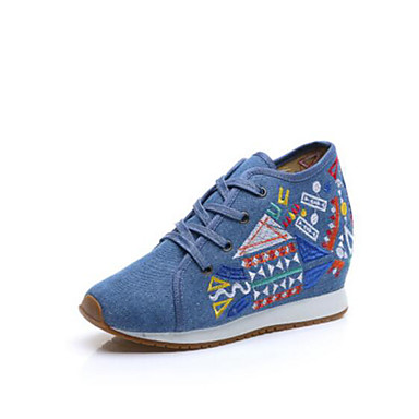 Damen Schuhe Stoff Sommer Herbst Komfort Sneakers Für Normal Schwarz Blau