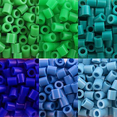aproximativ 500pcs / sac de 5 mm margele margele de siguranțe HAMA DIY puzzle eva safty materiale pentru copii (asortate cu 6 culori, B25-B33)