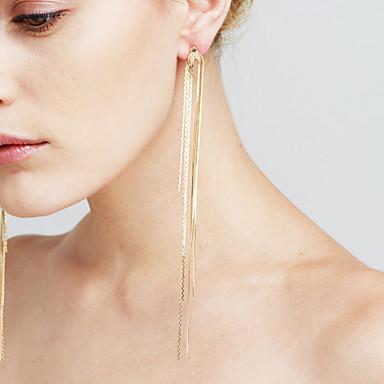 Mulheres Diamante sintético Pingentes - Coração Borla, Fashion, Euramerican Dourado / Prata Para Presentes de Natal / Casamento /