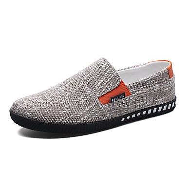 للرجال أحذية تول صيف مريح المتسكعون وزلة الإضافات أسود / بني / أزرق