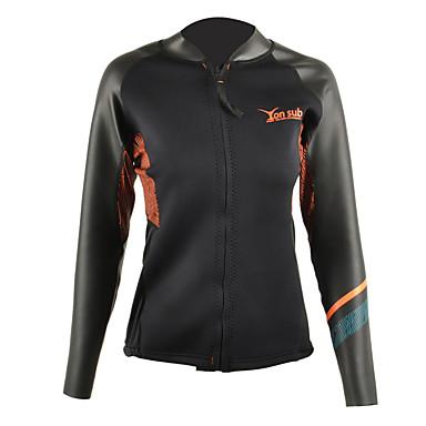 YON SUB Mulheres 2mm Jaqueta de Mergulho Filtro Solar Esportes Tactel Neoprene Lycra Fato de Mergulho Manga Longa Blusas - Surfe