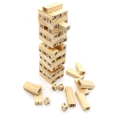Building Blocks / Stacking Game / Stacking Tumbling Tower Balance / Large Size Classic Unisex Gift