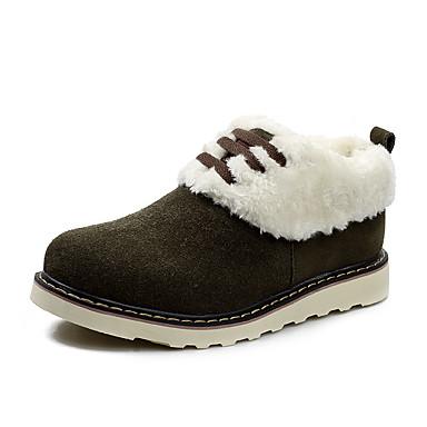 للرجال أحذية فرو ظبي شتاء جزم الثلج كتب جزمات متوسطة إلى فضفاض الأماكن المفتوحة أسود بني كاكي