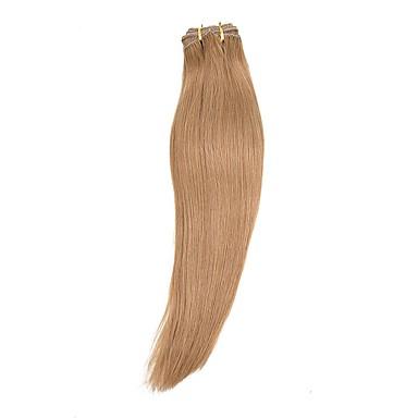 povoljno Perike i ekstenzije-S kopčom Konjski repići Zamotajte Ljudska kosa Kose za kosu Ugradnja umetaka Wavy
