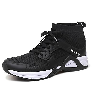 Férfi cipő Tüll Tél Ősz Kényelmes Sportcipők Bokacsizmák mert Sport Hétköznapi Work & Safety Hivatal és karrier Szabadtéri Fekete Szürke