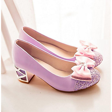 Damen Schuhe PU Frühling Herbst Komfort Sandalen Für Normal Schwarz Purpur Mandelfarben